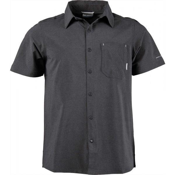 Černá pánská košile s krátkým rukávem Columbia