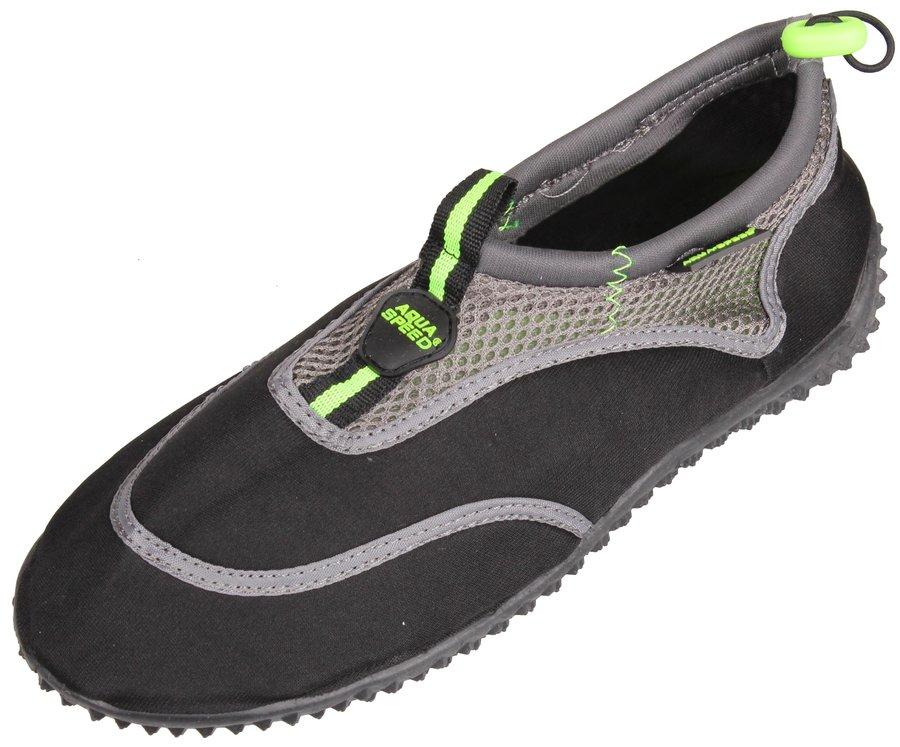 Černo-šedé boty do vody Jadran 5, Aqua-Speed - velikost 36 EU