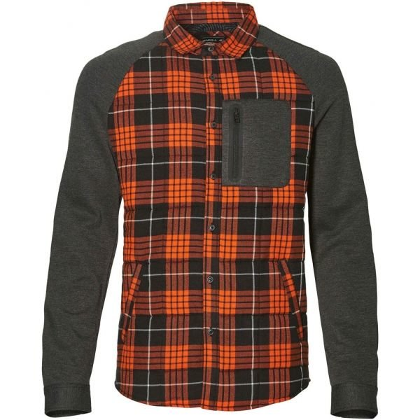 Oranžovo-šedá pánská košile s dlouhým rukávem O'Neill - velikost S