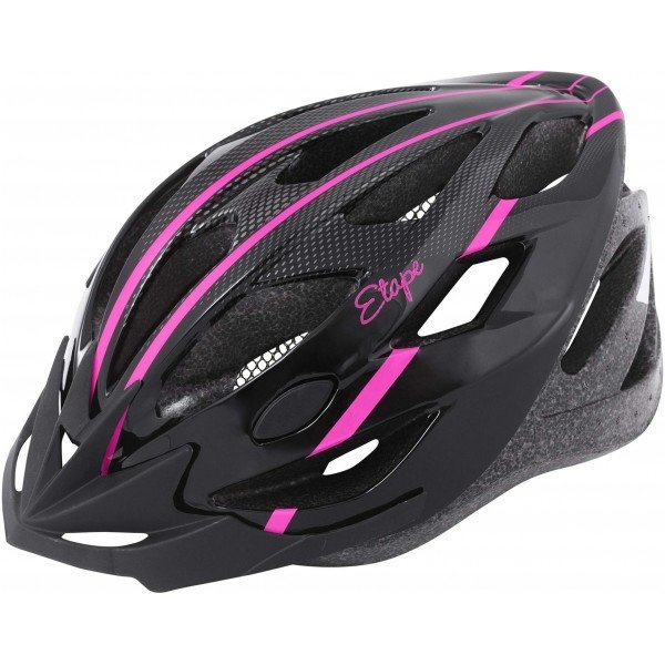 Černo-růžová dámská cyklistická helma Etape