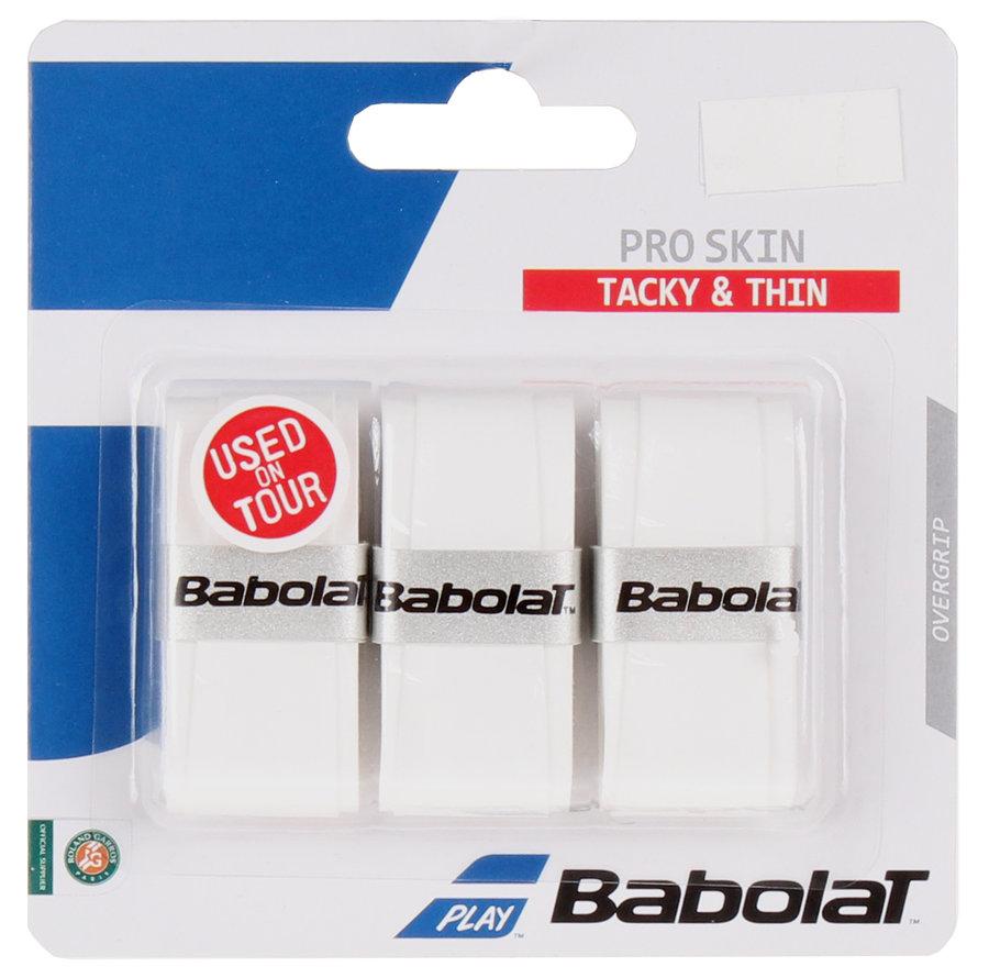 Bílá tenisová omotávka Pro Skin overgrip, Babolat - 3 ks