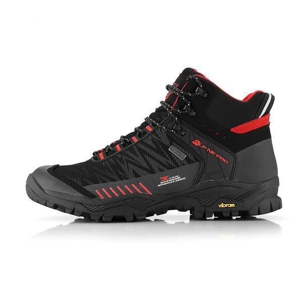 Černé nepromokavé trekové boty Alpine Pro - velikost 42 EU