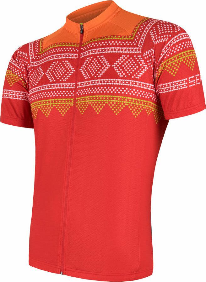Červený pánský cyklistický dres Sensor - velikost XL