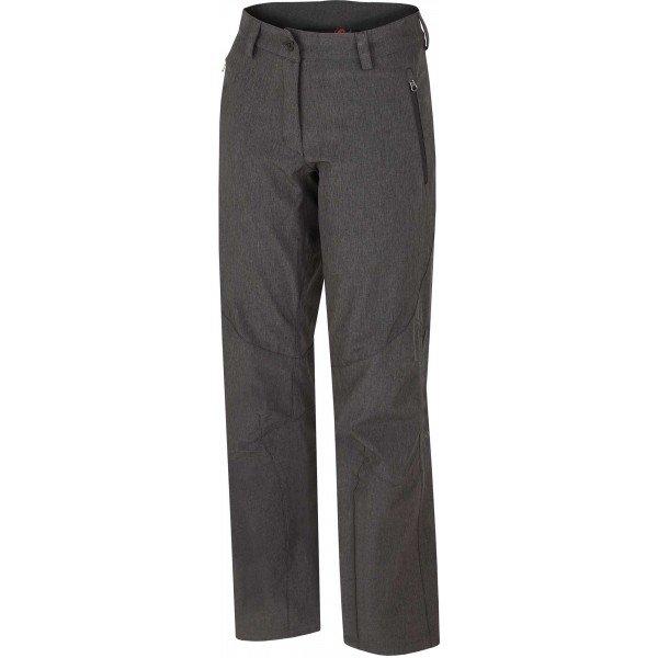 Šedé softshellové dámské kalhoty Hannah - velikost 34