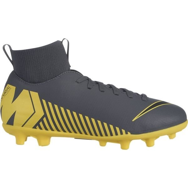 Šedo-žluté dětské kopačky Nike
