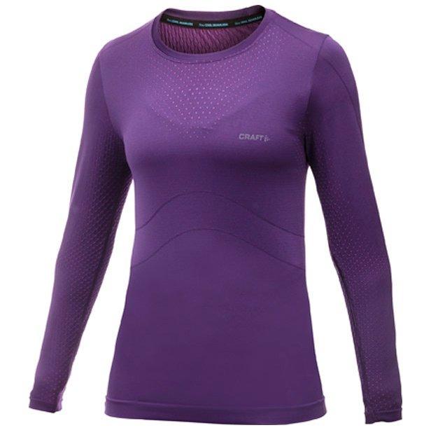 Fialové dámské funkční tričko s dlouhým rukávem Craft - velikost XL