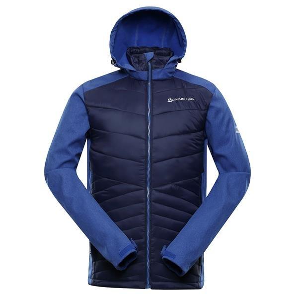 Modrá softshellová pánská turistická bunda Alpine Pro - velikost 3XL