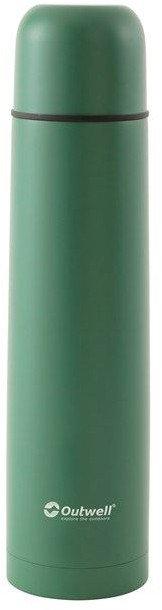 Zelená termoska na pití Outwell - objem 1 l