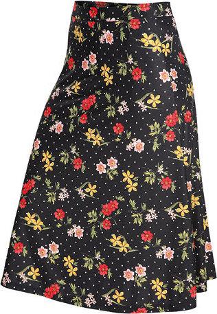 Černo-růžová dámská sukně Litex