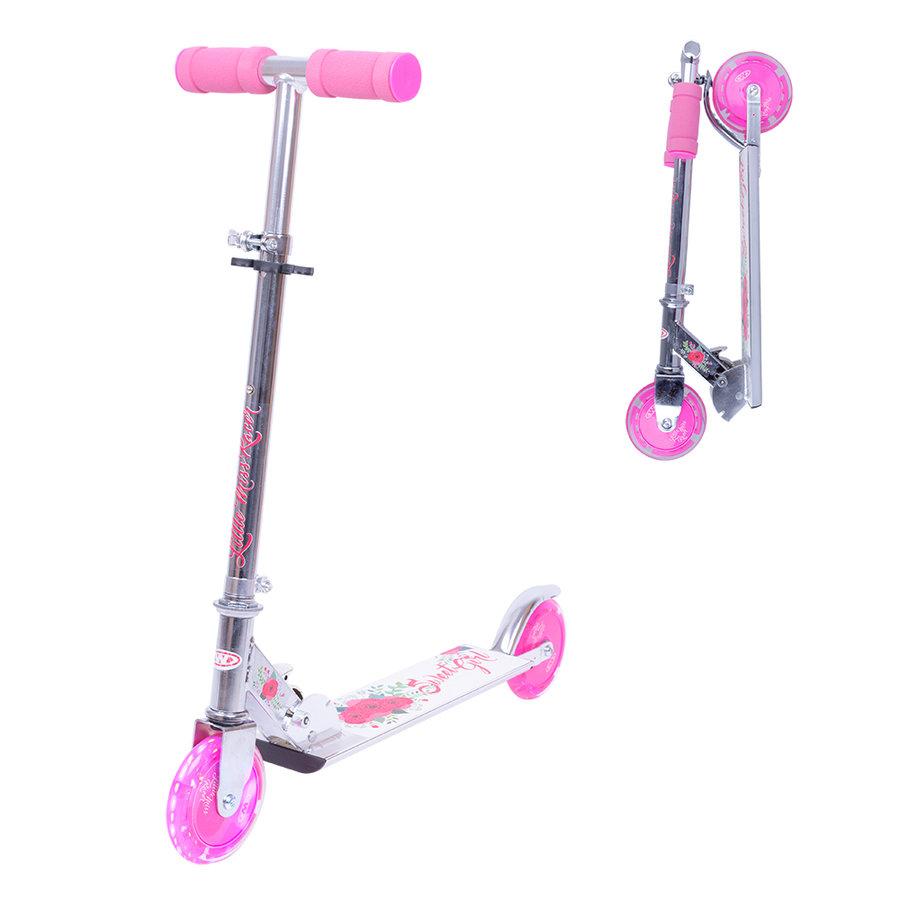 Bílo-růžová koloběžka Racer Sweet Girl, Worker