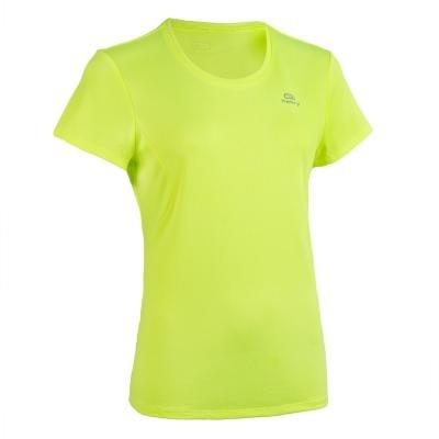 Žluté dámské tričko na atletiku Kalenji - velikost 48