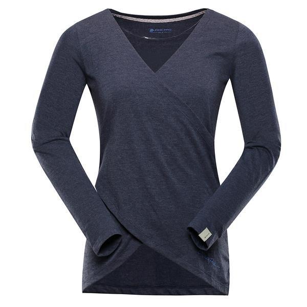 Modré dámské tričko s dlouhým rukávem Alpine Pro