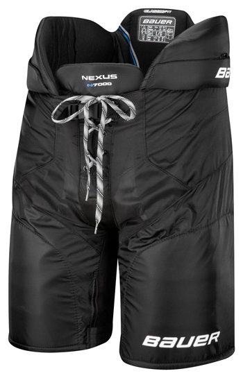 Modré hokejové kalhoty - junior Bauer - velikost XL
