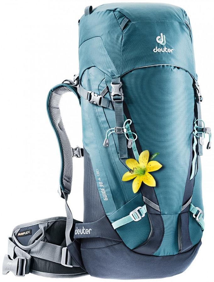 Tyrkysový skialpový batoh Deuter - objem 30 l