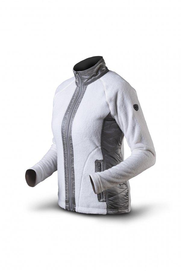 Bílo-šedá sportovní dámská mikina bez kapuce Trimm