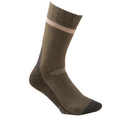 Hnědé unisex ponožky Solognac