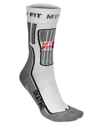 Bílo-šedé ponožky Powerslide - velikost 43-46 EU