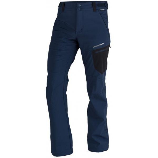 Modré softshellové pánské kalhoty NorthFinder