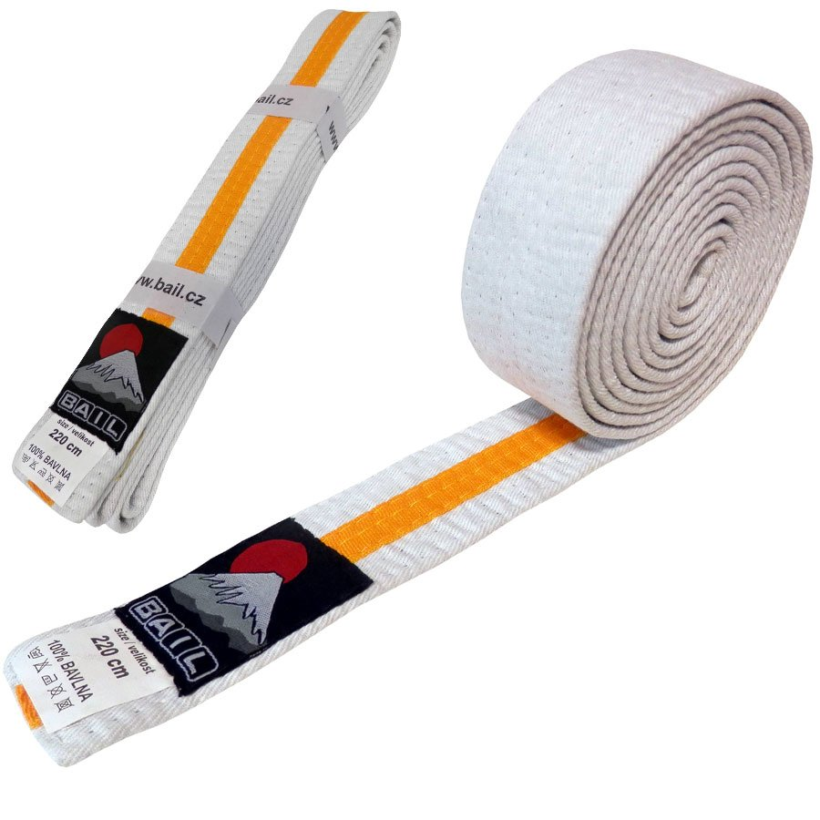 Bílo-žlutý judo pásek Bail