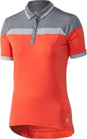 Oranžový dámský cyklistický dres Klimatex