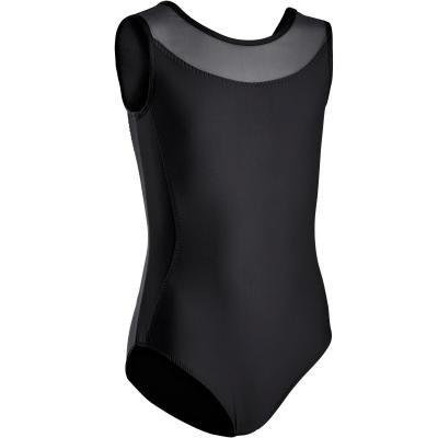 Černý dívčí baletní trikot Domyos