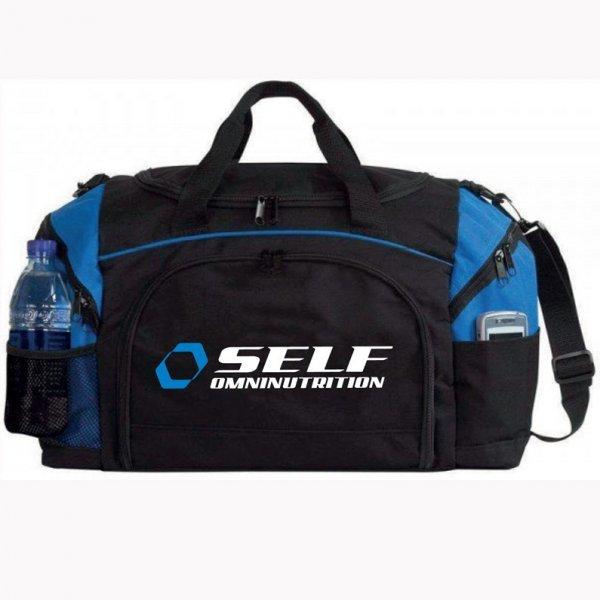 Černo-červená sportovní taška Self OmniNutrition