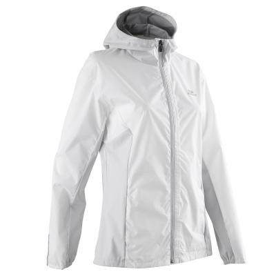 Bílá voděodolná běžecká bunda Rain, Kalenji