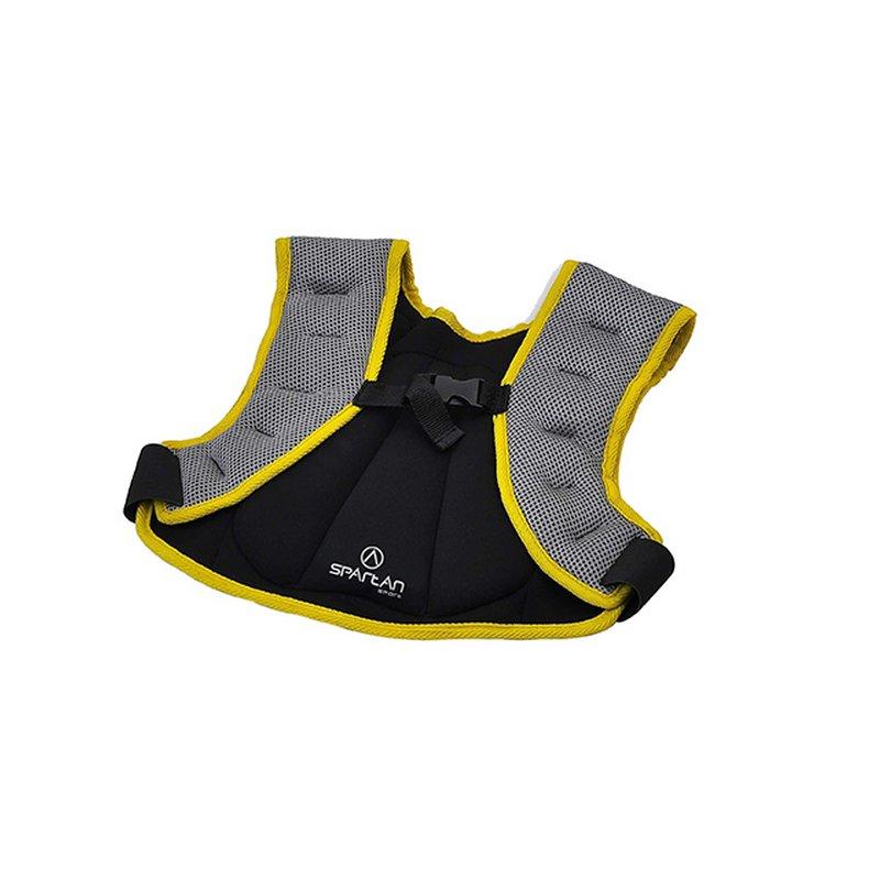 Černo-žlutá zátěžová vesta Spartan - 2 kg
