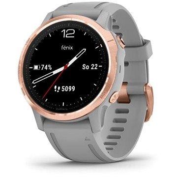 Šedé chytré dámské hodinky Fenix 6S, Garmin