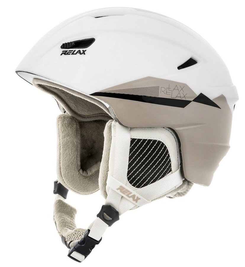 Bílá dámská lyžařská helma Relax - velikost 54-56 cm