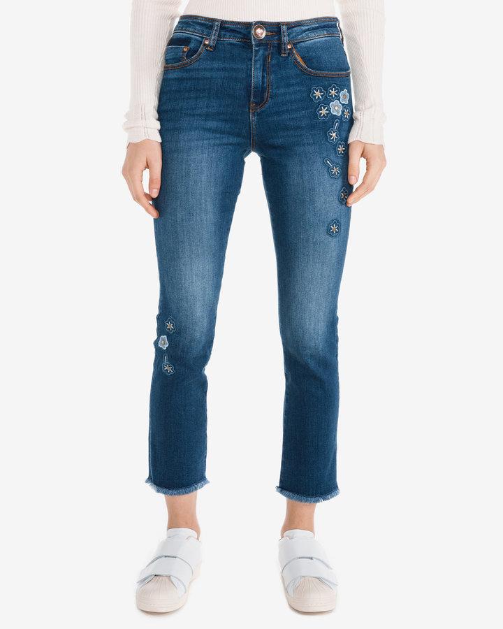 Modré dámské džíny Desigual