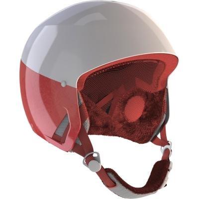 Bílo-červená lyžařská helma Wed'ze - velikost 53-56 cm