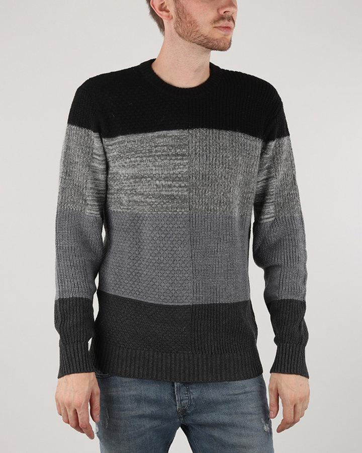 Černo-šedý pánský svetr Diesel