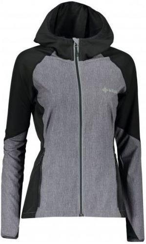 Černo-šedá softshellová dámská bunda Kilpi
