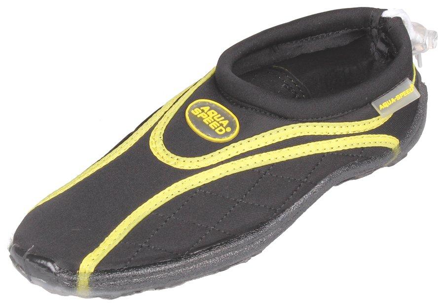 Černo-žluté boty do vody Jadran 9, Aqua-Speed - velikost 35 EU