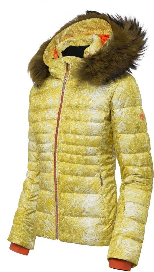 Žlutá dámská lyžařská bunda Descente - velikost 38