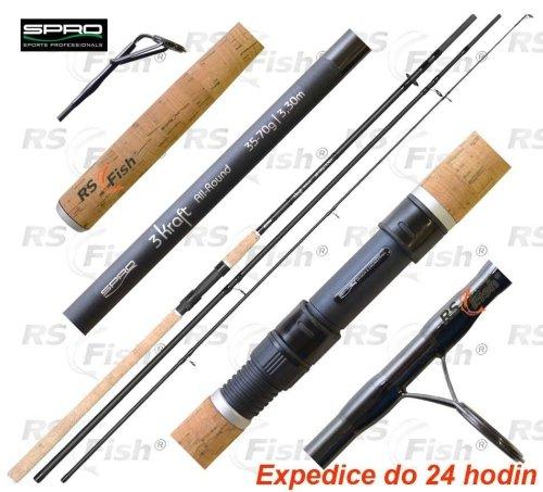 Splávek - SPRO® Prut SPRO 3 Kraft All-Round 330 cm - 35 - 75 g - 3 díly