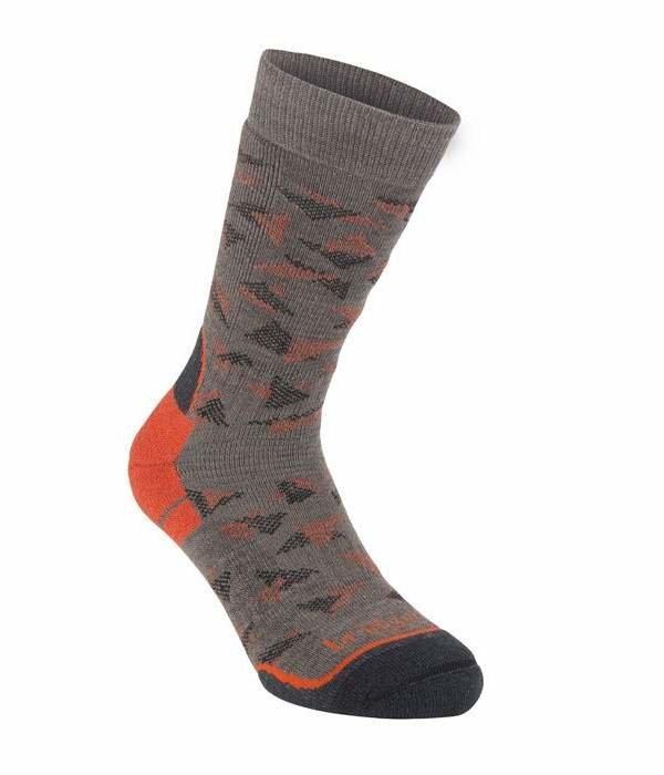 Oranžovo-šedé pánské trekové ponožky Bridgedale