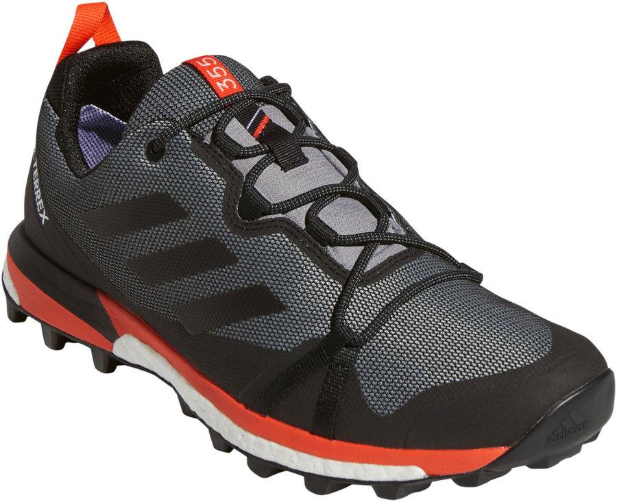 Černo-šedé pánské trekové boty Adidas