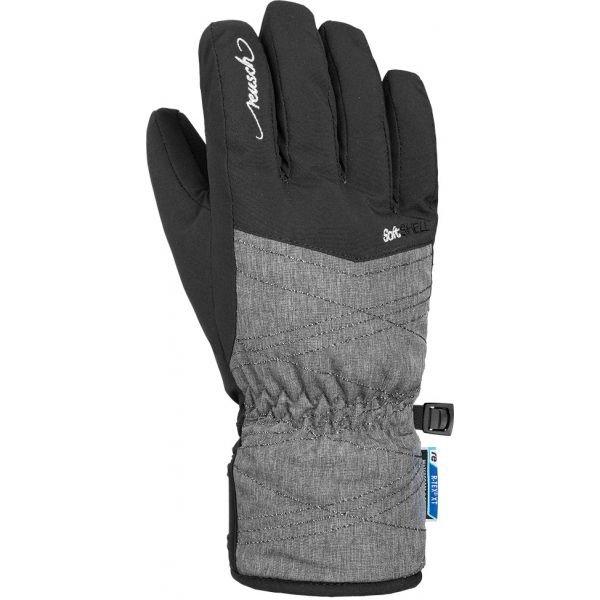 Černo-šedé dětské lyžařské rukavice Reusch