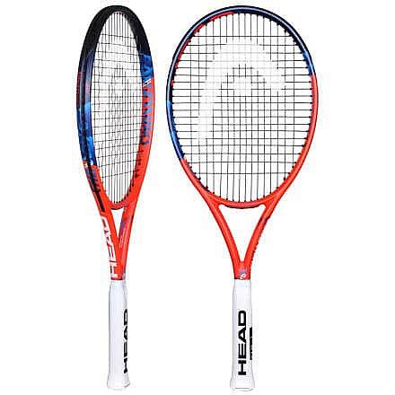 Oranžová tenisová raketa Head - délka 68,5 cm