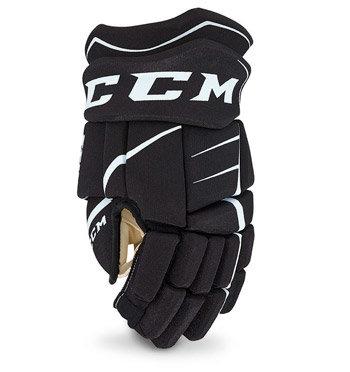 """Bílo-černé hokejové rukavice - junior CCM - velikost 10"""""""