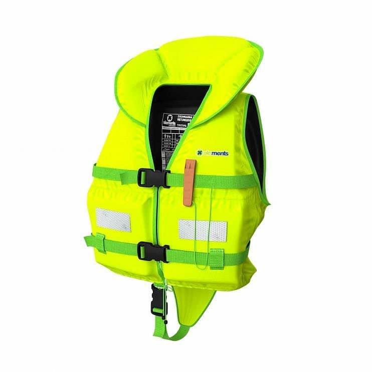 Žlutá dětská plovací vesta - velikost S