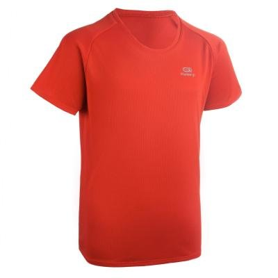 Červené dětské tričko na atletiku Kalenji