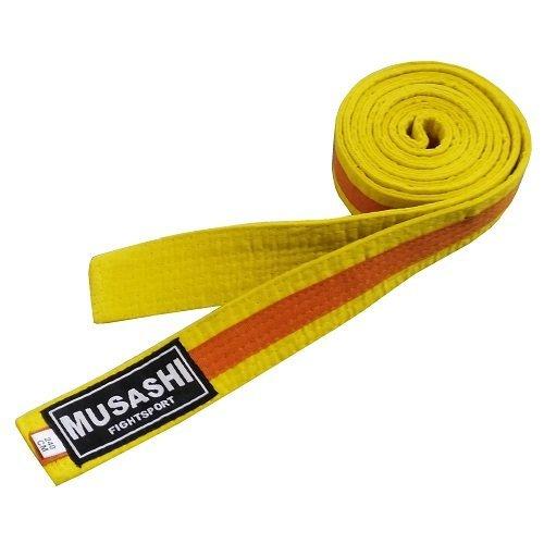 Oranžovo-žlutý judo pásek Musashi