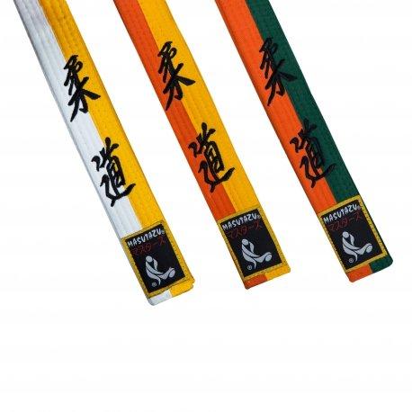 Bílo-žlutý judo pásek MASUTAZU - délka 170 cm