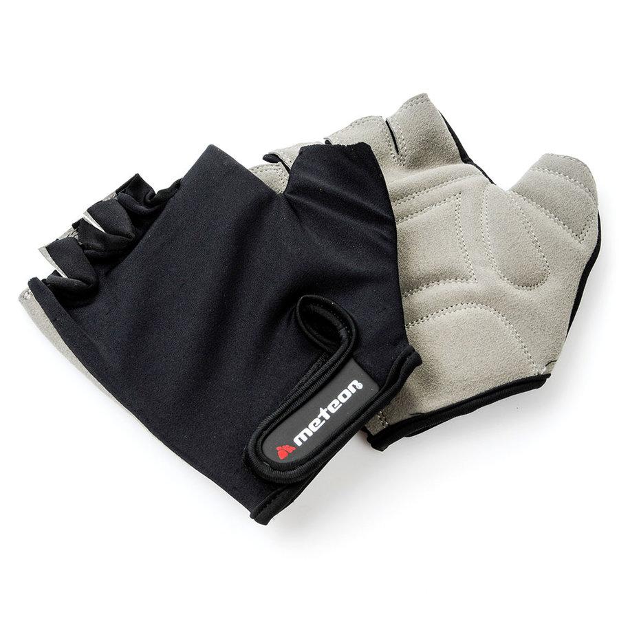 Černo-šedé fitness rukavice Meteor - velikost XXL
