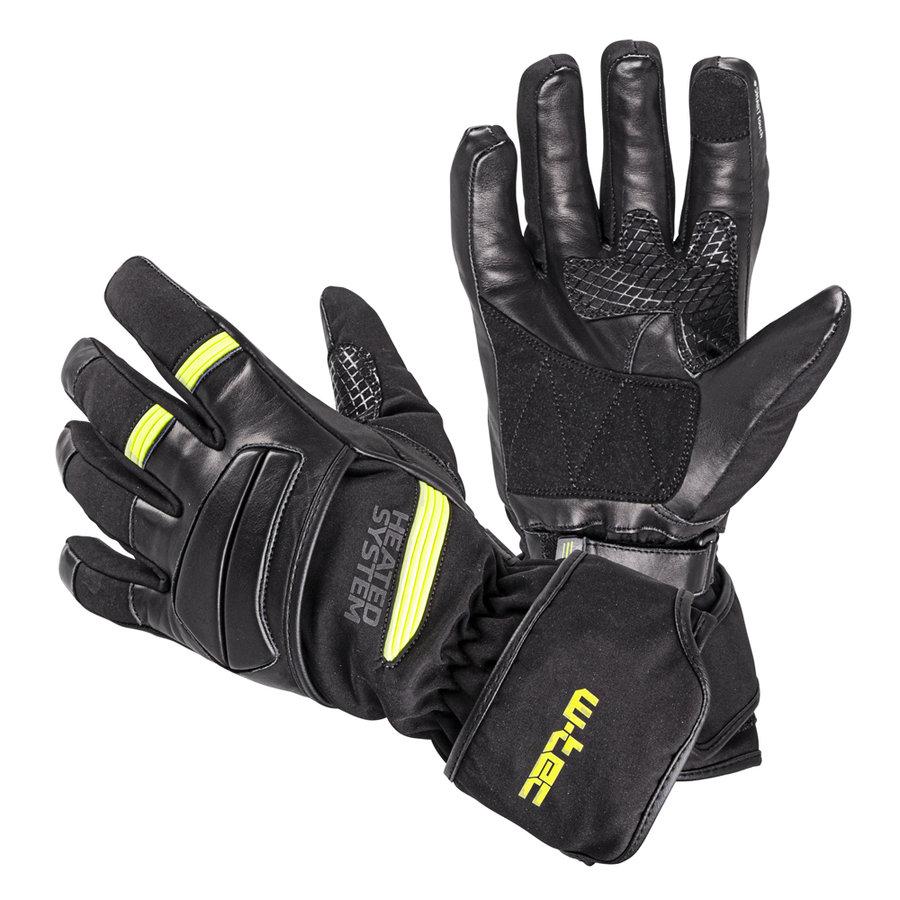 Zelené zimní rukavice s vyhříváním W-TEC