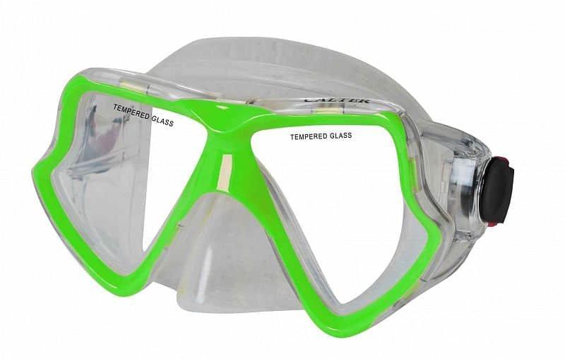 Potápěčská maska - Potápěčská maska CALTER SENIOR 282S, zelená