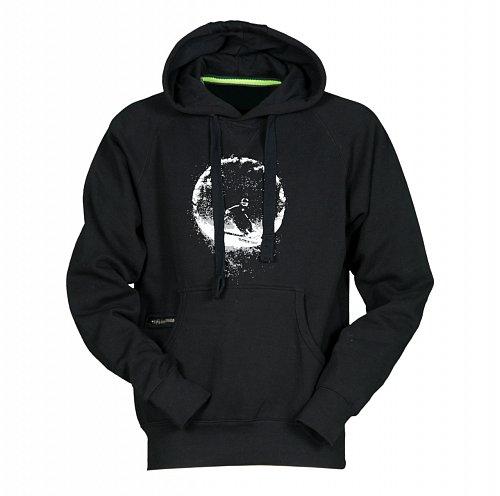 Černá lyžařská mikina s kapucí Sportinator